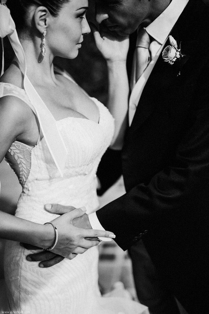 Fotografía profesional boda en Barcelona blanco y negro