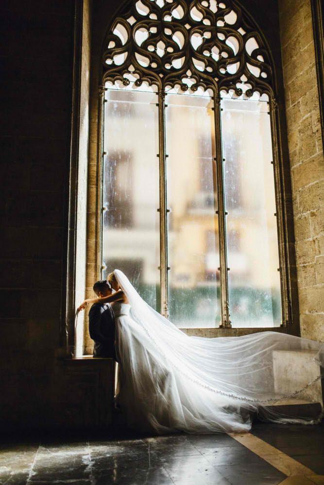 Красивая Свадебная Фотосессия в Барселоне