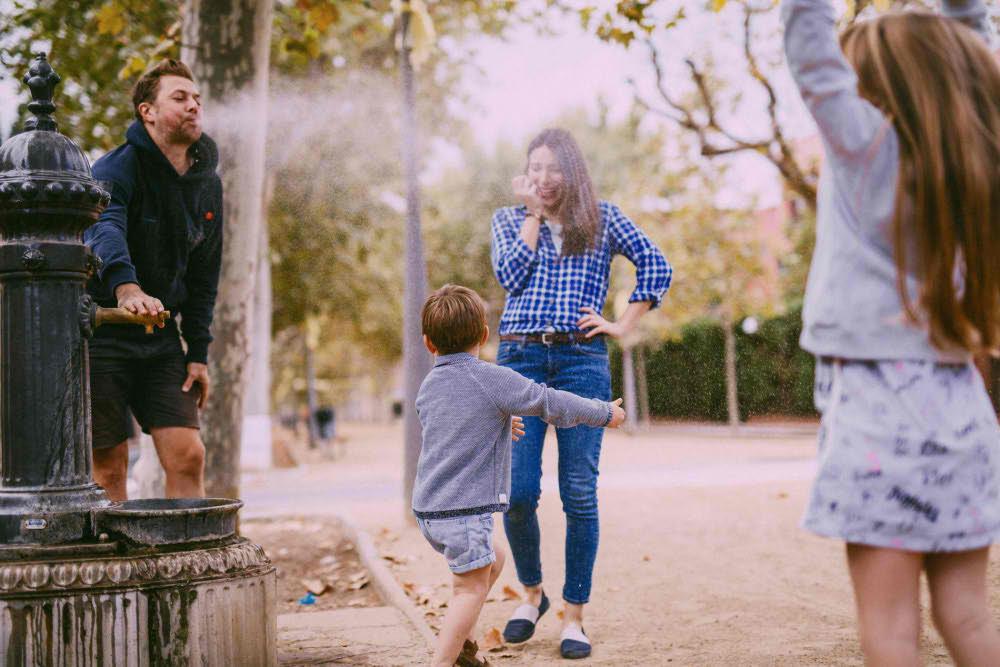 Foto de familia en parque