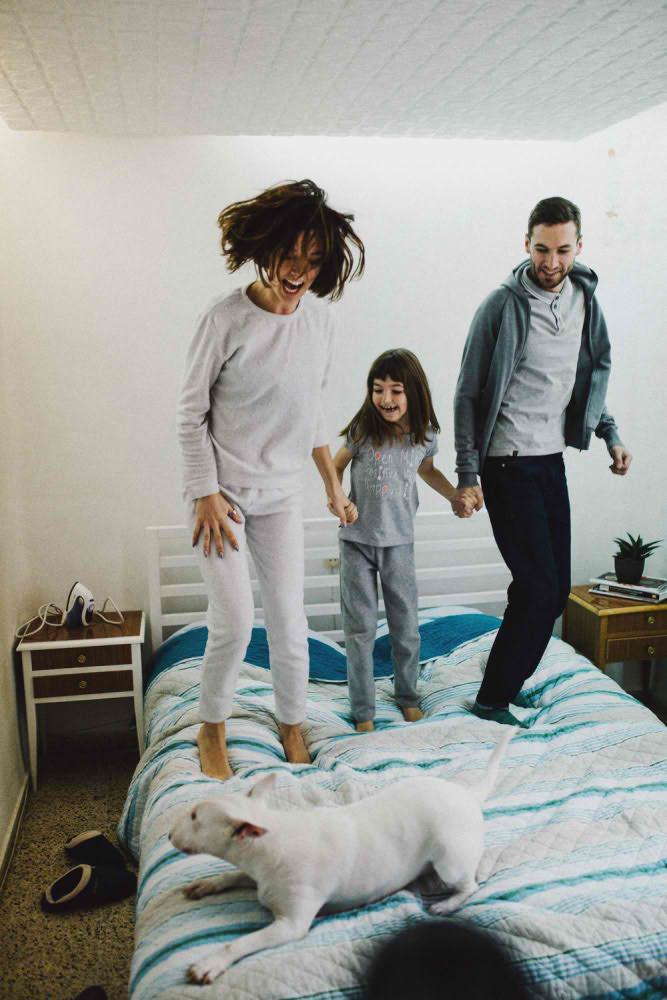 Felicidad de una familia Barcelona