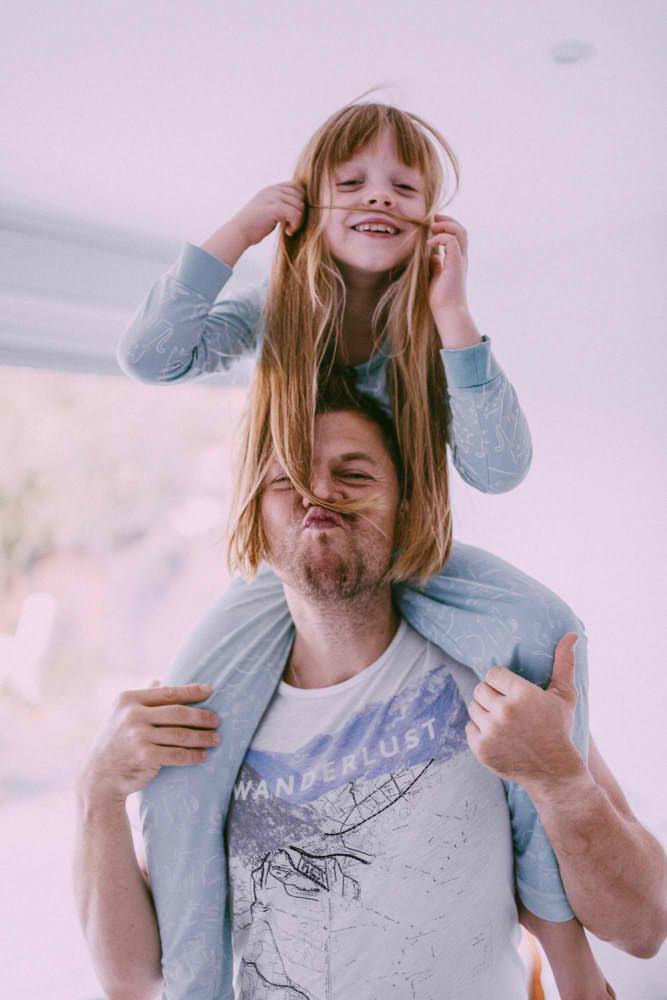 padre hija feliz sesion de fotos