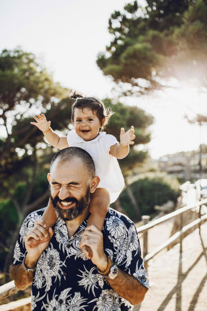 Отец и Дочь счастье Барселона